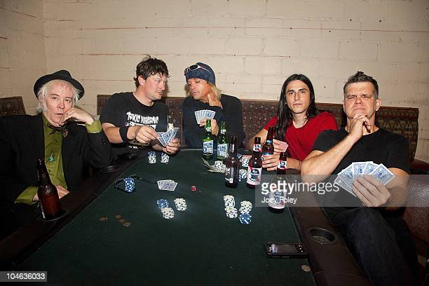 Mark Cutsinger David Lawson Casey Lee Michels Sean Cruz and John Zeps of KIDD COMET backstage after their concert at The Vollrath to celebrate the...