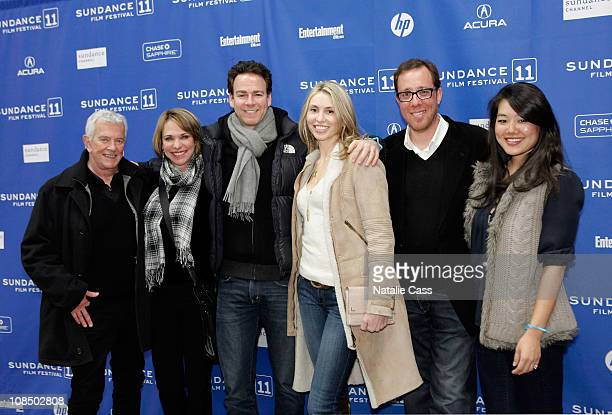 Mark Damon Maggie Damon Christian Arnold Beautel Rob Minkoff and Crystal Minkoff attend the Flypaper Premiere at the Eccles Center Theatre during the...