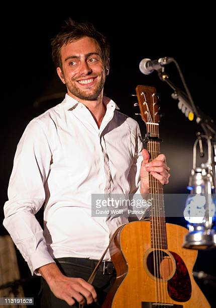 Mark Daumail performs on April 26 2011 in Paris France