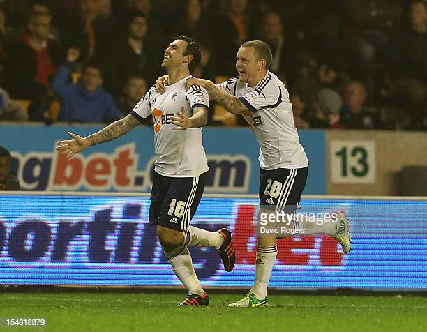Mark Davies of Bolton celebrates after scoring a late equalising goal during the npower Championship match between Wolverhampton Wanderers and Bolton...