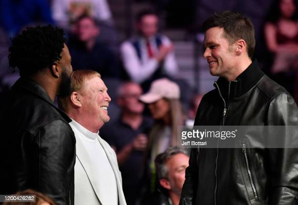 Mark Davis and Tom Brady attend the UFC 246 event at TMobile Arena on January 18 2020 in Las Vegas Nevada