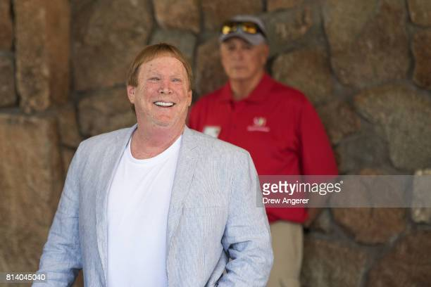 Mark Davis owner of the Oakland Raiders football team attends the third day of the annual Allen Company Sun Valley Conference July 13 2017 in Sun...