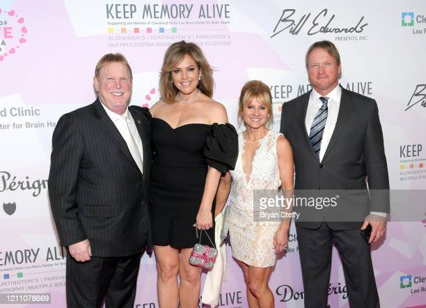Mark Davis Sandra Taylor Cindy Gruden and Jon Gruden attend the 24th annual Keep Memory Alive 'Power of Love Gala' benefit for the Cleveland Clinic...
