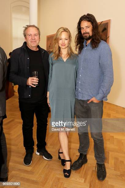 Mark Davy Sophie Beeftink and Ralph Nauta attend Pace Gallery Celebrates Julian Schnabel at 6 Burlington Gardens on May 16 2018 in London England