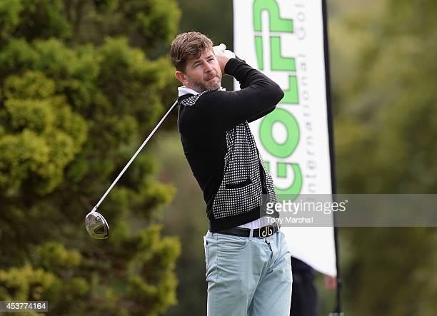 Mark Day of Whipsnade Park Golf Club plays his first shot on the 1st tee during the Golfplan Insurance PGA ProCaptain Challenge East Regional...