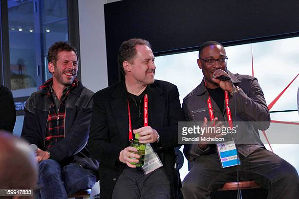 Mark De Gli Antoni Mark Isham and George Tillman Jr attend the BMI Roundtable at Sundance House on January 23 2013 in Park City Utah