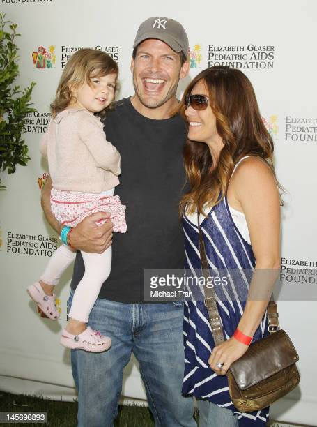 Mark Deklin and his family arrive at Elizabeth Glaser Pediatric AIDS Foundation's 23rd Annual A Time For Heroes Celebrity Picnic held at Wadsworth...
