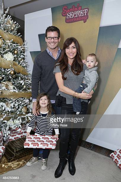 Mark Deklin Jamie Deklin Kylie Deklin and Julian Deklin attend the 3rd Annual Santa's Secret Workshop Benefiting LA Family Housing at Andaz Hotel on...