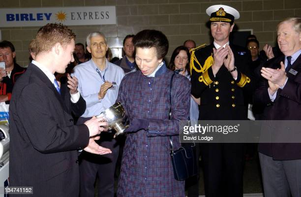 Mark Devereux and HRH Princess Anne with Tim Lawrence behind
