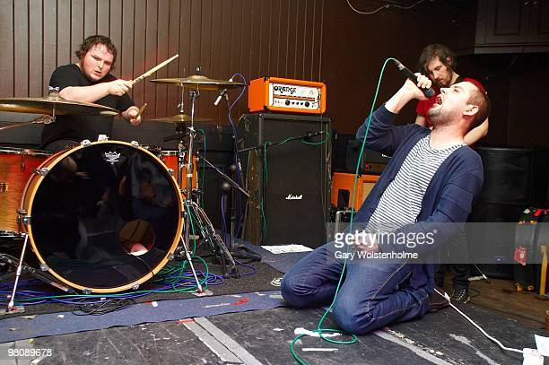 Mark Devine and James Graham of The Twilight Sad performs on stage at The Harley on March 27, 2010 in Sheffield, England.