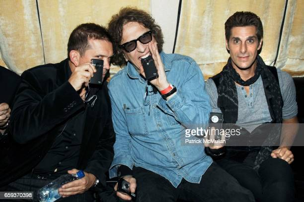 Mark DiDia Mick Rock and Perry Farrell attend JOHN VARVATOS STAR USA host Free The Noise party at John Varvatos 315 Bowery on September 15 2009 in...