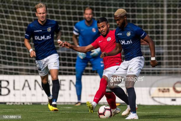 Mark Diemers of Fortuna Sittard Danilo Sousa Campos of Antalyaspor AS Lisandro Semedo of Fortuna Sittard during the Friendly match between Fortuna...