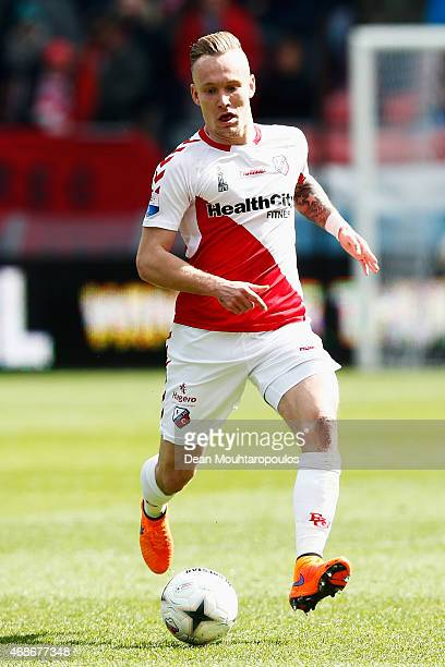 Mark Diemers of Utrecht in action during the Dutch Eredivisie match between FC Utrecht and Ajax Amsterdam held at Stadion Galgenwaard on April 5 2015...