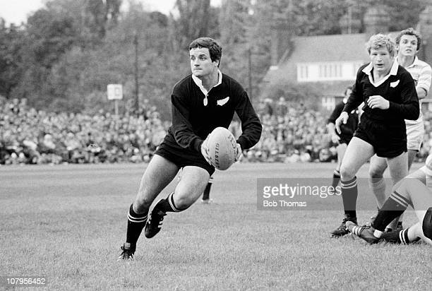 Mark Donaldson of the New Zealand All Blacks in action against Cambridge University at Grange Road in Cambridge circa October 1978