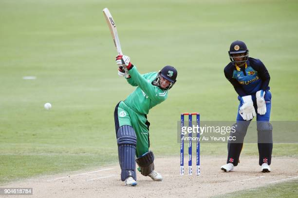 Mark Donegan of Ireland bats during the ICC U19 Cricket World Cup match between Sri Lanka and Ireland at Cobham Oval on January 14 2018 in Whangarei...