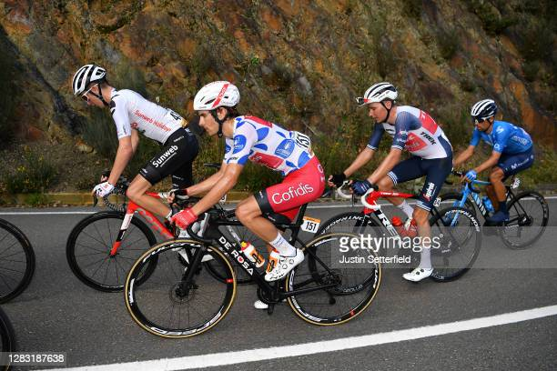 Mark Donovan of The United Kingdom and Team Sunweb / Guillaume Martin of France and Team Cofidis Solutions Credits Polka Dot Mountain Jersey / Niklas...