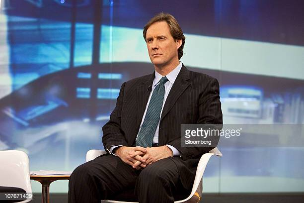 Mark Dow a portfolio manager at Pharo Management LLC listens during a Bloomberg television interview in New York US on Friday Dec 17 2010 Dow who...
