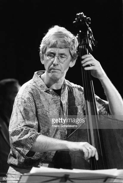 Mark Dresser, bass, performs at the Paradiso on 12th October 1997 in Amsterdam, Netherlands.