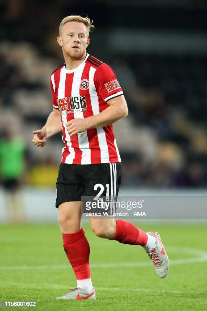 Mark Duffy of Sheffield United during the PreSeason Friendly match between Burton Albion and Sheffield United at Pirelli Stadium on July 16 2019 in...