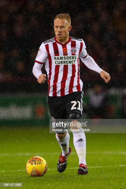 Mark Duffy of Sheffield United during the Sky Bet Championship match between Sheffield United and Sheffield Wednesday at Bramall Lane on November 9...