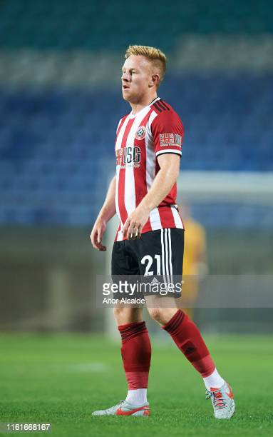 Mark Duffy of Sheffield United in action during a preseason friendly match between Real Betis Balompie and Sheffield United FC at Estadio Algarve on...