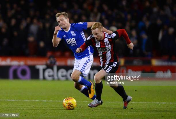 Mark Duffy of Sheffield United in action during the Sky Bet Championship match between Sheffield United and Birmingham City at Bramall Lane on...