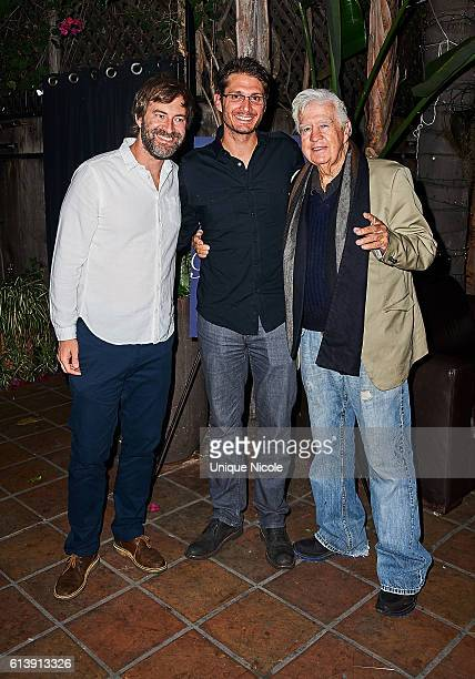"""Mark Duplass, Alexandre Lehmann and Clu Gulager attend the """"Blue Jay"""" Los Angeles Special Screening at The CineFamily on October 10, 2016 in Los..."""