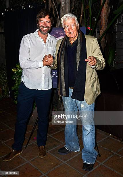 """Mark Duplass and Clu Gulager attend the """"Blue Jay"""" Los Angeles Special Screening at The CineFamily on October 10, 2016 in Los Angeles, California."""