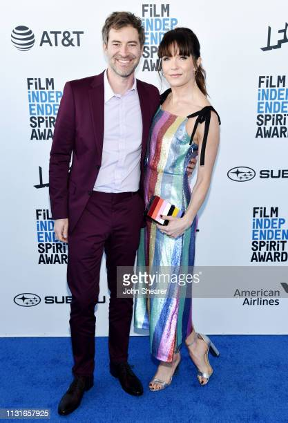 Mark Duplass and Katie Aselton attend the 2019 Film Independent Spirit Awards on February 23 2019 in Santa Monica California