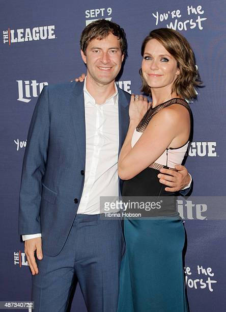 Mark Duplass and Katie Aselton attend the premiere of 'The League' and 'You're The Worst' at Regency Bruin Theater on September 8 2015 in Westwood...
