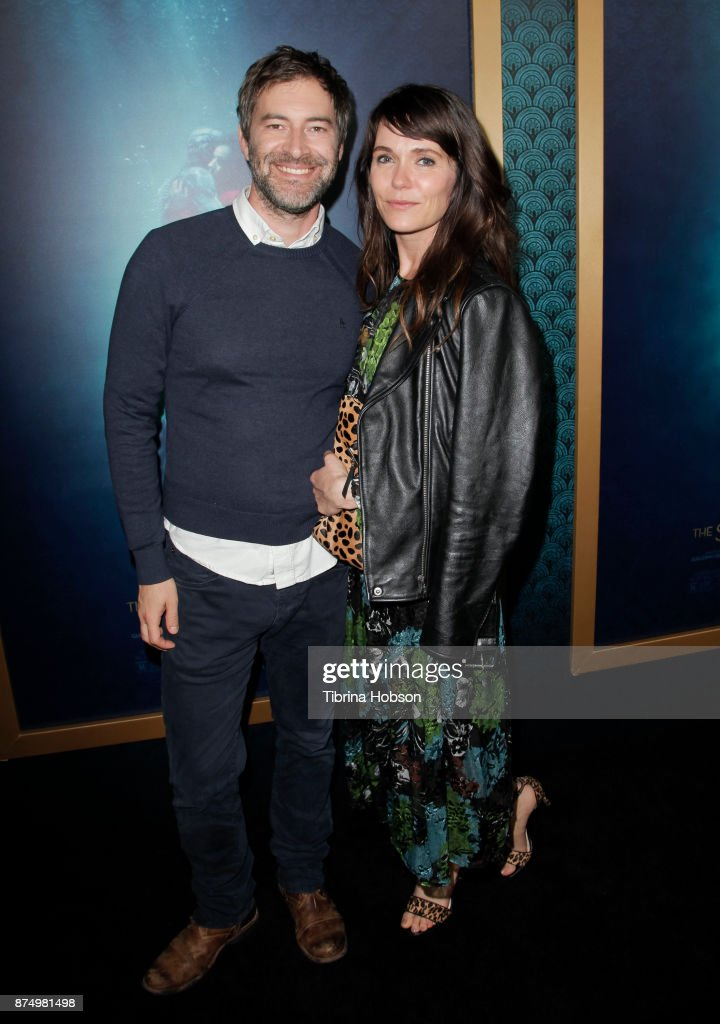 Mark Duplass and Katie Aselton attend the premiere of 'The Shape Of Water' at Academy Of Motion Picture Arts And Sciences on November 15, 2017 in Los Angeles, California.