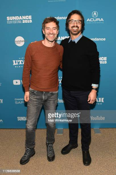 Mark Duplass and Ray Romano attend the Paddleton Premiere during the 2019 Sundance Film Festival at Eccles Center Theatre on February 01 2019 in Park...