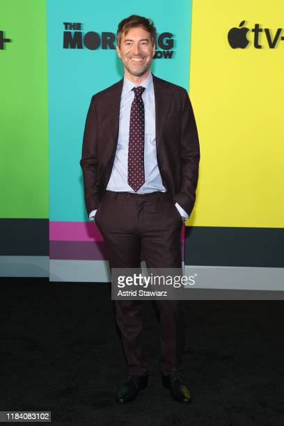 Mark Duplass attends the Apple TV's The Morning Show World Premiere at David Geffen Hall on October 28 2019 in New York City