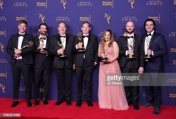 Mark Duplass Jay Duplass Josh Braun Dan Braun Juliana Lembi Chapman Way and Maclain Way winners of the award for outstanding documentary or...