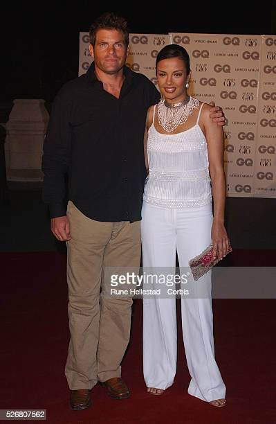 Mark DurdenSmith and Liz Bonnin arrive at the 2002 GQ Men of the Year Awards in London