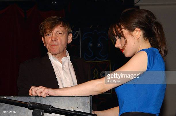 Mark E Smith and wife Elena Poulou of The Fall perform at the Hammersmith Palais on April 1 2007 in London This was the last scheduled concert at the...