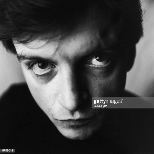Mark E Smith lead singer of British rock group The Fall in Manchester circa 1990