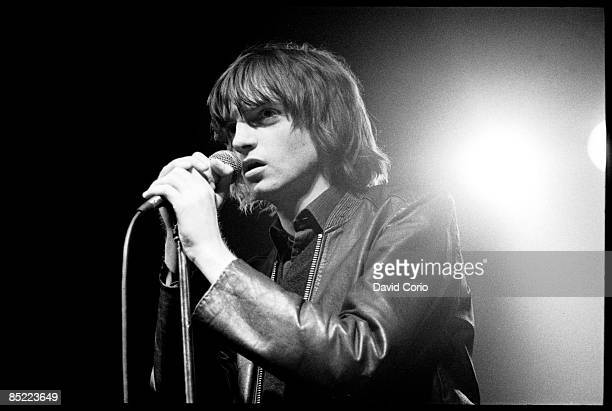 Mark E Smith of The Fall performing at The Electric Ballroom London UK on 17 April 1980