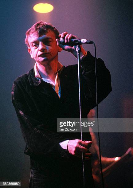 Mark E Smith of The Fall performing on stage London United Kingdom 1996