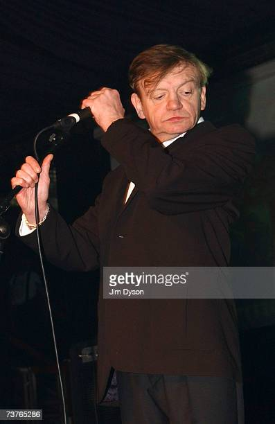 Mark E Smith of The Fall performs at the Hammersmith Palais on April 1 2007 in London This was the last scheduled concert at the historic West London...