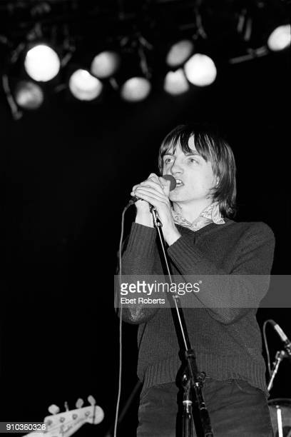 Mark E Smith performing with The Fall at the Palladium in New York City on December 1 1979