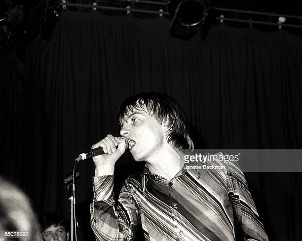 Mark E Smith performing with The Fall London 1978