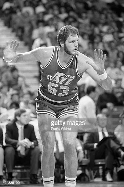 Mark Eaton of the Utah Jazz stands against the Sacramento Kings circa 1989 at Arco Arena in Sacramento California NOTE TO USER User expressly...