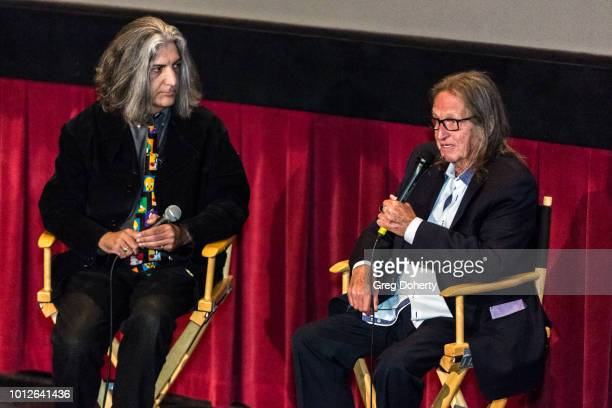 Mark Edward Heuck chats with George Jung before George Jung's Birthday Celebration And Screening Of Blow at TCL Chinese 6 Theatres on August 6 2018...