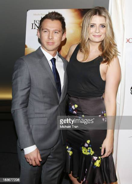 Mark Edwin Robinson and Mischa Barton arrive at the Los Angeles premiere of 'I Will Follow You Into The Dark' held at the Landmark Theater on October...