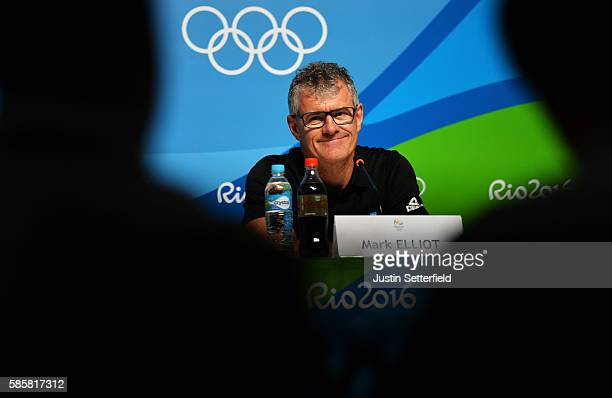 Mark Elliot of New Zealand attends a New Zealand Olympic Committee press conference on August 4 2016 in Rio de Janeiro Brazil