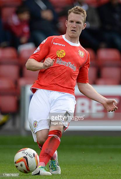 Mark Ellis of Crewe Alexanders during their Sky Bet League One match against Peterborough United at the Alexandra Stadium on September 7 2013 in...