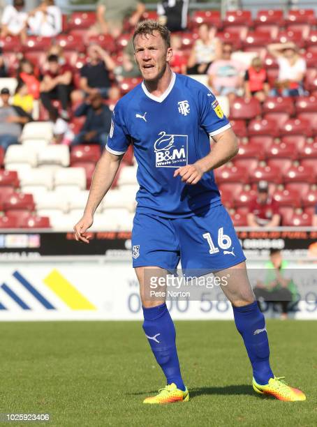Mark Ellis of Tranmere Rovers in action during the Sky Bet League Two match between Northampton Town and Tranmere Rovers at PTS Academy Stadium on...