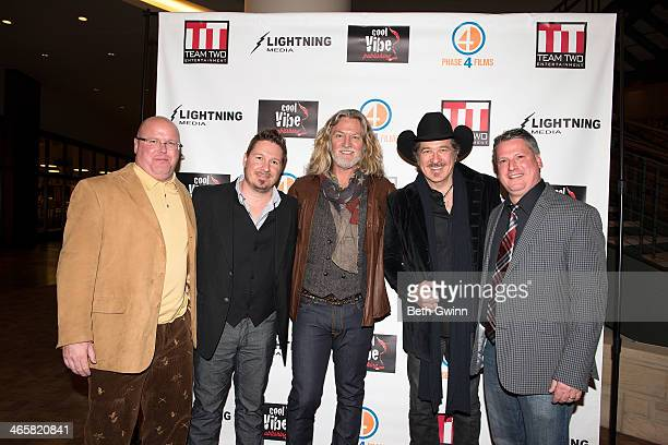 Mark Ericson Dustin Rikert William Shockley Kix Brooks and Jim Aylward attends the 'Ambush At Dark Canyon' premiere at the Country Music Hall of Fame...