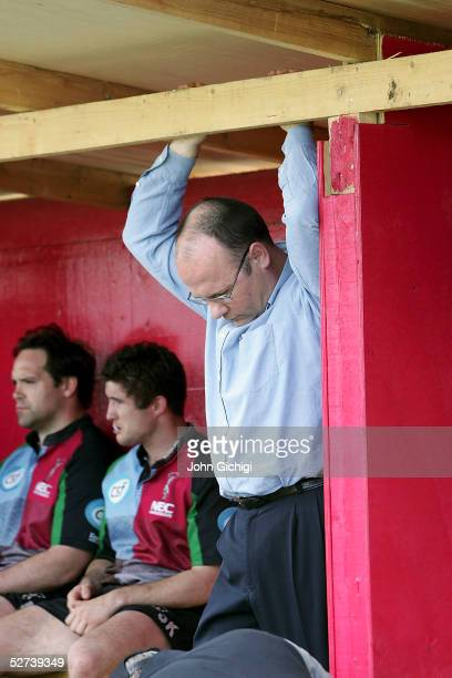 Mark Evans CEO of Harlequins during the Zurich Premiership game between NEC Harlequins and Sale Sharks at the Stoop Memorial Ground on April 30 2005...